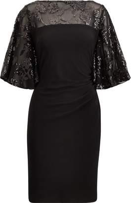 Ralph Lauren Sheer-Yoke Dress