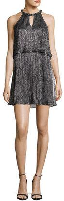 Ella Moss Metallic Popover Shift Dress, Black $228 thestylecure.com