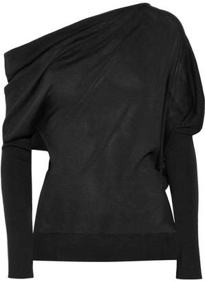 Tom Ford One-shoulder Cashmere And Silk-blend Sweater - Black
