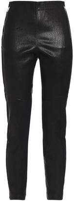 Rag & Bone Marissa Jersey-Paneled Textured-Leather Leggings