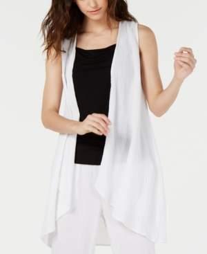 Eileen Fisher Organic Cotton Open-Front Vest