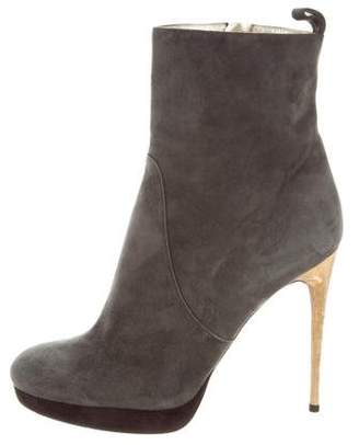 DSQUARED2 Suede Round-Toe Ankle Boots