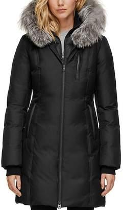 Soia & Kyo Fox Fur Trim Down Coat