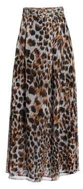 Nanushka Nanushka Women's Ocelot-Print Chiffon Maxi Skirt - Ocelet Print - Size Medium
