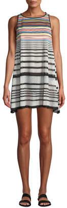 Missoni Mare Striped Knit Sleeveless Coverup Dress