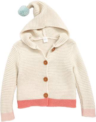Nordstrom Hooded Button Sweater