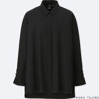 Uniqlo Women's Tencel Flyfront Long-sleeve Tunic (hana Tajima)