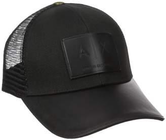 Armani Exchange A|X  Men's Logo Patch Mesh Hat