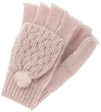 Monsoon Girls Pink Polly Pom Pom Capped Gloves