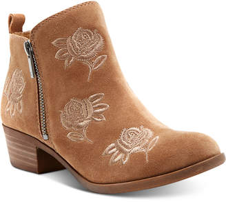 Lucky Brand Women's Basel Embroidery Booties $129 thestylecure.com
