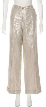 Ralph Lauren Black Label Mid-Rise Wide-Leg Pants