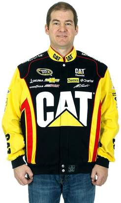 Burton JH Design Jeff Caterpillar Racing NASCAR Jacket a Snap up Jacket for Men