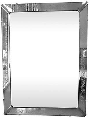 One Kings Lane Vintage Midcentury Etched Frame Mirror