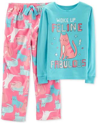 Carter's Little & Big Girls 2-Pc. Feline Fabulous Pajama Set