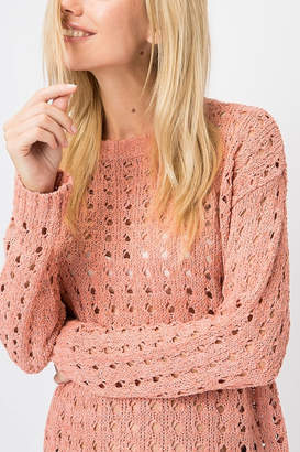 Cozy Casual Open Knit Pullover