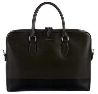 Burberry Printed Leather Briefcase