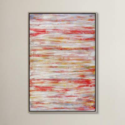 Wayfair Coral Course Framed Canvas Print