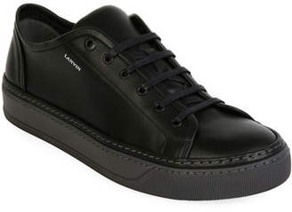 Lanvin Men's Leather Low-Top Sneakers