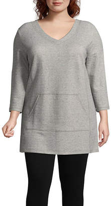 Liz Claiborne Kanga Pocket Tunic - Plus