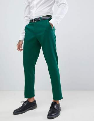 Asos DESIGN Wedding Skinny Suit Pants In Forest Green