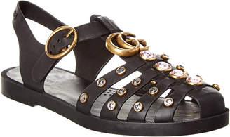 Gucci Crystal Embellished Rubber Sandal