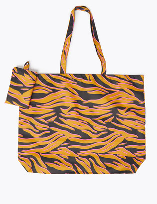 Marks and Spencer Animal Print Packable Shopper