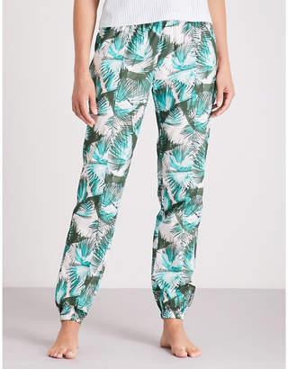 Calvin Klein Palm-print cotton pyjama bottoms