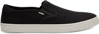 Toms Black Canvas Baja Men's Slip-Ons