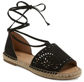Merona Women's Braelyn Ghillie Studded Lace Up Espadrille Ballet Flats $24.99 thestylecure.com