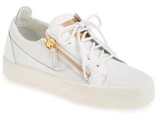 Women's Giuseppe Zanotti 'May London' Snake Embossed Low Top Sneaker $650 thestylecure.com