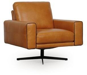 Moroni Colette Full Leather Swivel Chair Moroni