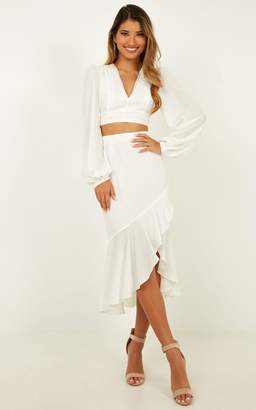 Showpo Clean Lies Two Piece Set In white - 10 (M) Engagement Dresses