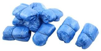 Unique Bargains Household Plastic Elastic Band Disposable Carpet Clean Shoes Cover Blue 40 Pairs