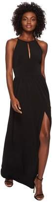MICHAEL Michael Kors Solid Halter Maxi Dress Women's Dress
