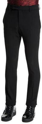 Lanvin Pleated Skinny-Leg Trousers, Black $910 thestylecure.com