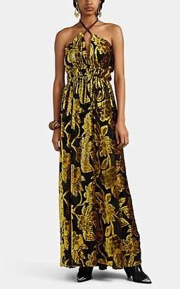 Ulla Johnson Women's Gia Floral Devoré Gown - Yellow
