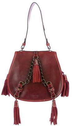 DSQUARED2 Leather Tassel Saddle Shoulder Bag