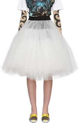 Junya Watanabe Black and White Tulle Skirt