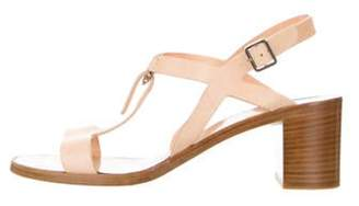 Salvatore Ferragamo Leather Ankle Strap Sandals Tan Leather Ankle Strap Sandals