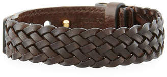 Tom Ford Men's Braided Calf Leather T-Buckle Bracelet