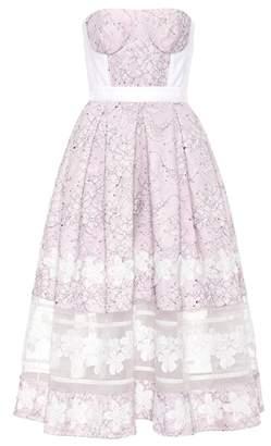 Huishan Zhang Wool and silk lace dress