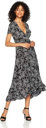 LIRA Women's Arabella Floral Wrap Maxi Dress