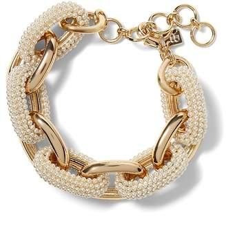 Banana Republic Beaded Pearl Link Bracelet