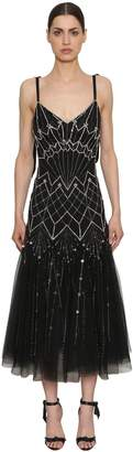 Temperley London Sequined Georgette Dress