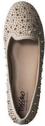 Mossimo Women's Venelina Jeweled Tuxedo Flat - Taupe