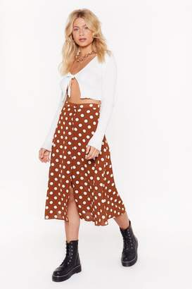 Nasty Gal Spot On Polka Dot Skirt