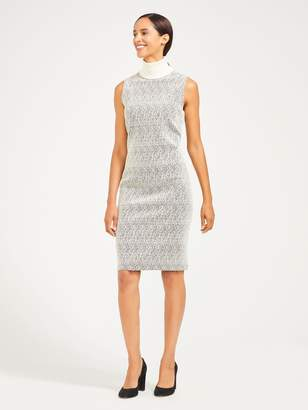 Breda Dress in Sand Jacquard