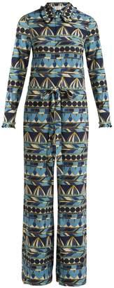 LA DOUBLEJ EDITIONS Umbrellas-print long-sleeve jumpsuit