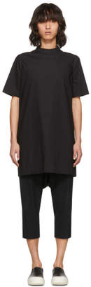 Rick Owens Black Short Sleeve Moody Tunic Turtleneck