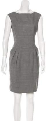 Magaschoni Sleeveless Wool Mini Dress